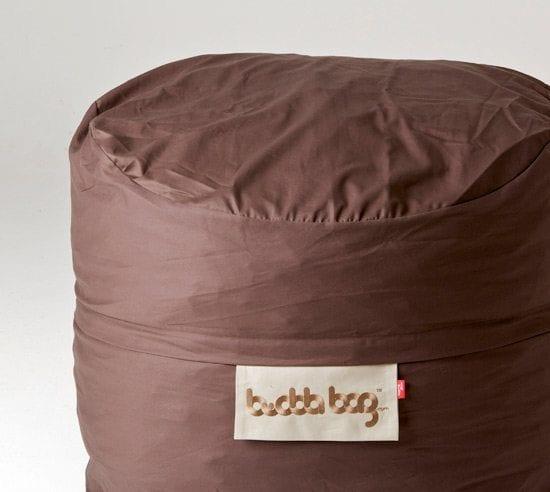 Mini Buddabag - Cord Brown Close-up